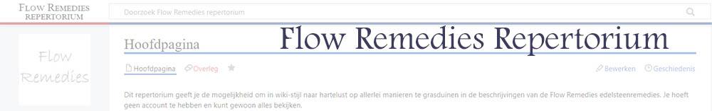 Banner voor Flow Remedies repertorium